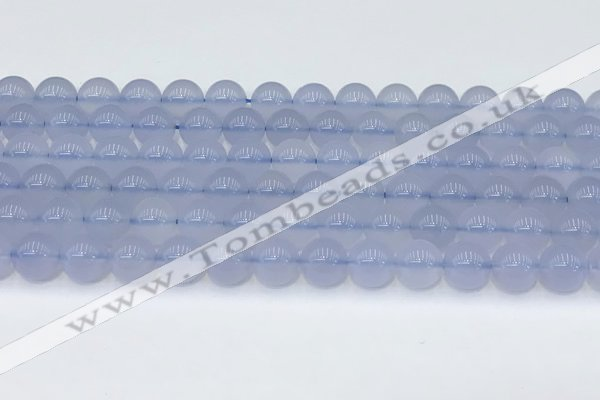 CBC817 15.5 inches 8mm round blue chalcedony gemstone beads