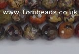 CBD370 15.5 inches 8mm faceted round brecciated jasper beads