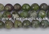 CBG101 15.5 inches 6mm faceted round bronze green gemstone beads