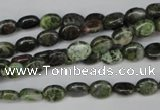 CBG26 15.5 inches 6*7mm oval bronze green gemstone beads