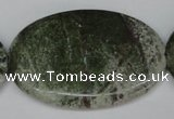CBG33 15.5 inches 35*50mm oval bronze green gemstone beads