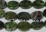 CBG57 15.5 inches 12*16mm oval bronze green gemstone beads