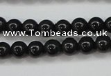 CBJ552 15.5 inches 6mm round Russian black jade beads wholesale