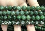 CBJ632 15.5 inches 8mm round Russian green jade beads wholesale