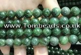 CBJ633 15.5 inches 10mm round Russian green jade beads wholesale