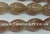 CBQ227 15.5 inches 13*18mm rice strawberry quartz beads