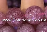 CBQ554 15.5 inches 12mm round strawberry quartz beads wholesale