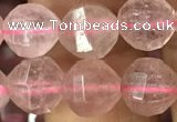 CBQ691 15.5 inches 8mm faceted round strawberry quartz beads