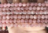 CBQ707 15.5 inches 8mm round strawberry quartz beads wholesale
