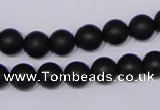 CBS03 15.5 inches 8mm round black stone beads wholesale