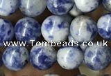 CBS601 15.5 inches 6mm round blue spot stone beads wholesale