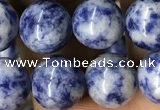 CBS604 15.5 inches 12mm round blue spot stone beads wholesale