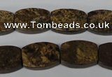 CBZ428 15.5 inches 13*18mm flat drum bronzite gemstone beads