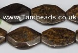 CBZ441 15.5 inches 20*25mm octagonal bronzite gemstone beads