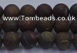 CBZ602 15.5 inches 8mm round matte bronzite beads wholesale