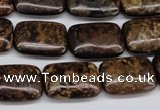 CBZ75 15.5 inches 13*18mm rectangle bronzite gemstone beads