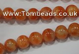 CCA303 15.5 inches 10mm round orange calcite gemstone beads wholesale