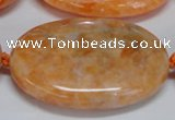 CCA489 15.5 inches 30*40mm oval orange calcite gemstone beads