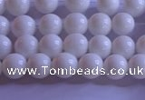 CCB400 15.5 inches 4mm round white tridacna beads wholesale