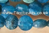CCB615 15.5 inches 6mm faceted coin natural apatite gemstone beads