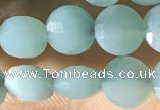 CCB620 15.5 inches 6mm faceted coin amazonite gemstone beads
