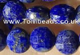 CCB624 15.5 inches 6mm faceted coin lapis lazuli gemstone beads