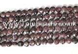 CCB751 15.5 inches 8mm faceted coin red garnet gemstone beads
