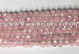 CCB759 15.5 inches 8mm faceted coin rose quartz beads