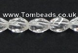 CCC219 8*12mm twisted rice grade AB natural white crystal beads