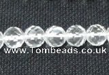 CCC253 15.5 inches 10mm faceted round grade A natural white crystal beads