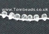 CCC264 5*7mm faceted teardrop grade A natural white crystal beads