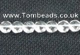 CCC271 15 inches 8mm faceted coin grade A natural white crystal beads