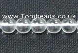 CCC279 15.5 inches 12mm round A grade natural white crystal beads
