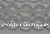 CCC411 15.5 inches 6mm faceted round AB-color white crystal beads