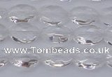 CCC513 15.5 inches 10*14mm faceted oval natural white crystal beads