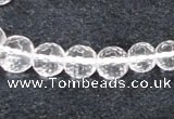 CCC616 15.5 inches 6mm - 12mm faceted round natural white crystal beads