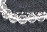 CCC617 15.5 inches 6mm - 12mm faceted round natural white crystal beads