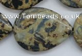 CCD09 15.5 inches 30*40mm flat teardrop cordierite beads wholesale
