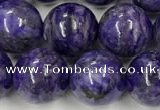 CCG312 15.5 inches 10mm round dyed charoite beads wholesale