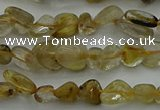 CCH673 15.5 inches 4*6mm - 5*8mm golden rutilated quartz chips beads