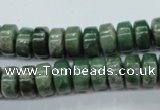 CCJ16 15.5 inches 6*10mm tyre natural African jade beads wholesale