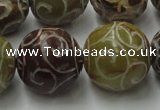 CCJ308 15.5 inches 20mm round China jade beads wholesale