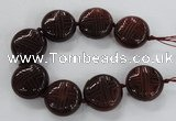 CCJ360 30mm carved coin China jade beads wholesale