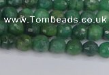 CCJ410 15.5 inches 4mm faceted round west African jade beads