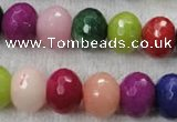 CCN1014 15.5 inches 12*16mm faceted rondelle multi colored candy jade beads