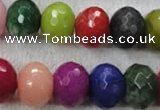 CCN1015 15.5 inches 13*18mm faceted rondelle multi colored candy jade beads