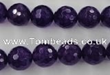 CCN1255 15.5 inches 12mm faceted round candy jade beads wholesale