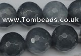 CCN1268 15.5 inches 18mm faceted round candy jade beads wholesale