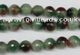 CCN1303 15.5 inches 8mm faceted round rainbow candy jade beads