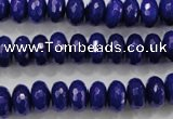 CCN1384 15.5 inches 6*10mm faceted rondelle candy jade beads